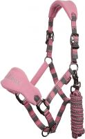 LeMieux Signature Headcollar & Leadrope Pink/Grey