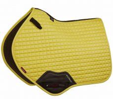 LeMieux Suede Close Contact Square Saddle Pad Citron