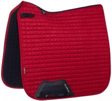 LeMieux Suede Dressage Square Saddle Pad Chilli Red