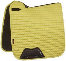LeMieux Suede Dressage Square Saddle Pad Citron