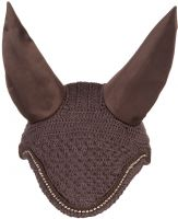 LeMieux Vogue Diamante Fly Hood Brown