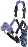 LeMieux Vogue Mini Fleece Headcollar with Leadrope Corn Blue/Navy