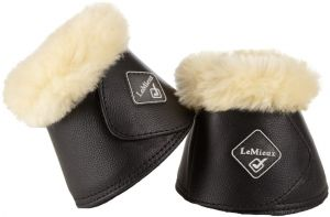 LeMieux WrapRound Lambskin Over Reach Boots Black/Natural
