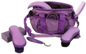 Roma Deluxe Carry Bag 7 Piece Grooming Kit Purple