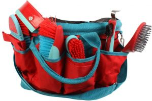Roma Deluxe Carry Bag Grooming Kit 6 Piece Watermelon/Blue