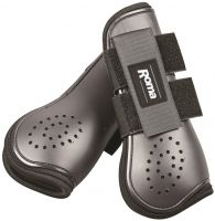 Roma Open Front Vent Tendon Boot Black