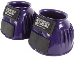 Roma PVC Ribbed Bell Boots Purple