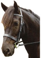 Sabre Eton Snaffle Traditional Flat Cavesson Bridle Black