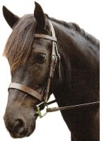 Sabre Eton Snaffle Traditional Flat Cavesson Bridle Havana