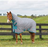 Saxon 600 Combo Heavyweight Turnout Rug Grey/Blue