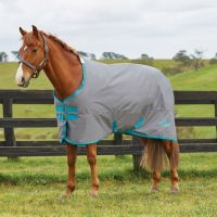 Saxon 600D 200g Medium Weight Standard Neck Turnout Rug Grey/Blue