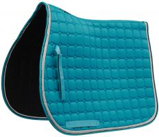 Saxon Co-ordinate Quilt All Purpose Saddle Pad Teal/Black/White