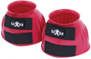Saxon Double Tape PVC Ribbed Bell Boots Pink