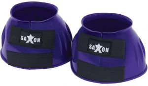 Saxon Double Tape PVC Ribbed Bell Boots Purple