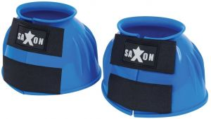 Saxon Double Tape PVC Ribbed Bell Boots Royal Blue