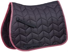 Saxon Element Quilted All Purpose Saddle Pad Navy/Pink