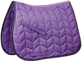 Saxon Element Quilted All Purpose Saddle Pad Purple/Navy