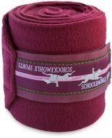 Schockemohle Fleece Bandages Merlot