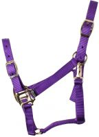 Shires Adjustable Headcollar Purple