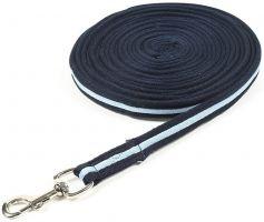 Shires Cushion Web Lunge Line Navy/Light Blue