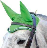 Shires Deluxe Fly Veil Lime Green/Navy