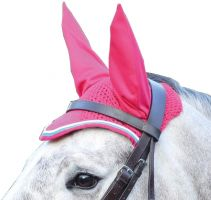 Shires Deluxe Fly Veil Pink/Bright Blue