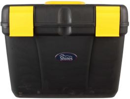 Shires Deluxe Grooming Box Black/Yellow