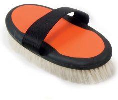Shires Ezi-Groom Body Brush with Goat Hair Orange