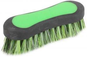 Shires Ezi-Groom Face Brush Green