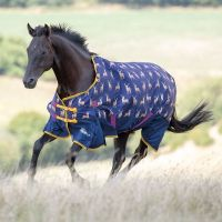 Shires Highlander Original 0g Lightweight Standard Neck Turnout Rug Stag Print