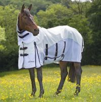 Shires Performance Maxi-Flow Fly Rug White/Navy/Orange