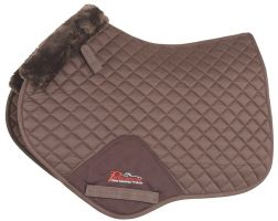 Shires Performance SupaFleece Jump Saddle Pad Brown