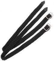 Shires Plaited Nylon Spur Straps Black