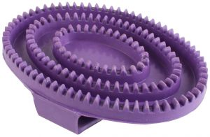 Shires Rubber Curry Comb Purple