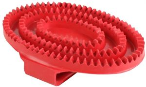 Shires Rubber Curry Comb Red