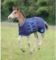 Shires Tempest Foal Rug Navy/Turquoise