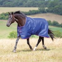 Shires Tempest Original 100 Medium Weight Standard Neck Turnout Rug Navy/Pink