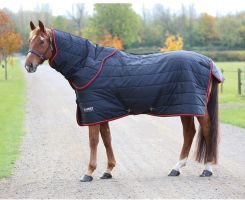 Shires Tempest Original 100g Lightweight Stable Rug and Neck Set Black/Red