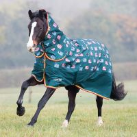Shires Tempest Original 200g Medium Weight Combo Turnout Rug Sheep Print