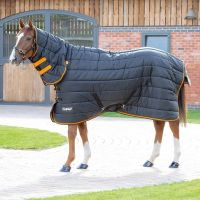Shires Tempest Original 300 Heavy Weight Combo Neck Stable Rug Black/Orange