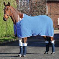 Shires Tempest Original Fleece Rug Royal Blue/Pink/Grey