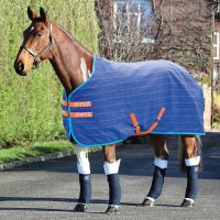 Shires Tempest Original Stable Sheet Royal Blue/Orange Check