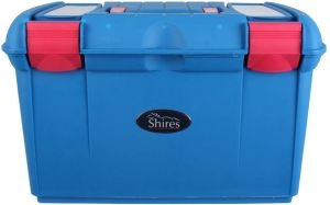Shires Two Tone Tack Box Blue/Pink