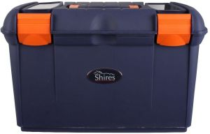 Shires Two Tone Tack Box Navy/Orange