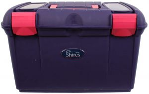 Shires Two Tone Tack Box Purple/Pink