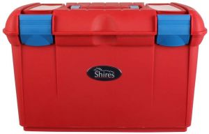 Shires Two Tone Tack Box Red/Blue