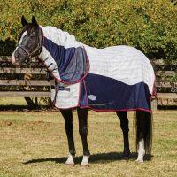 WeatherBeeta Breeze with Surcingles III Combo Neck Summer Sheet White/Navy/Red