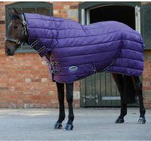 WeatherBeeta ComFiTec 210D Channel Quilt 350g Heavyweight Combo Stable Rug Purple/Black