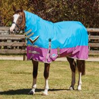 WeatherBeeta ComFiTec Classic 0g Lightweight Combo Neck Turnout Rug Blue/Purple/Silver
