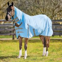 WeatherBeeta ComFiTec Classic 0g Lightweight Combo Turnout Rug Light Blue/Taupe